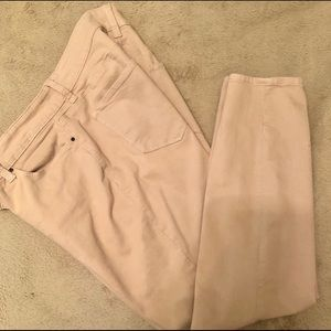 Ann Taylor Modern Skinny Ankle jeans Wheat Size 10
